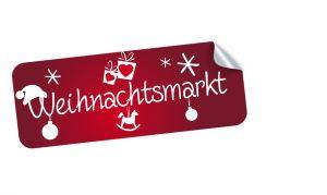 Weihnachtsmarkt Sticker, Aufkleber